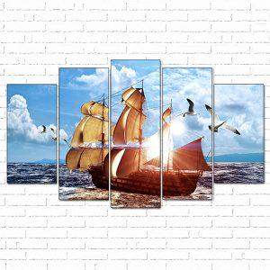 tranh con thuyền thuận buồm xuôi gió