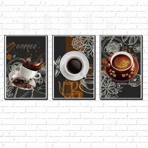 tranh treo tường những cốc cafe