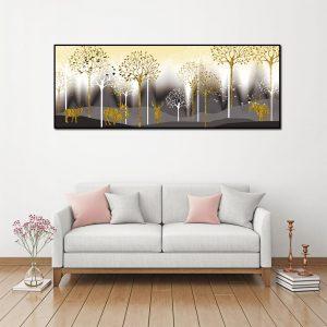 tranh canvas hươu vàng bắc âu