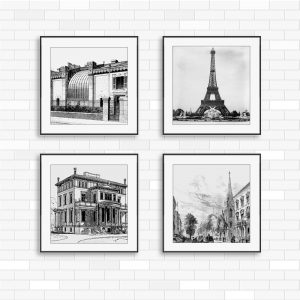 4 tranh canvas paris