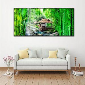 tranh rừng cây tre