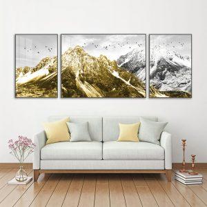 tranh bộ ngọn núi vàng